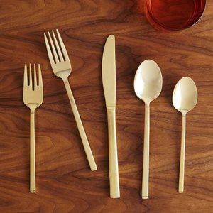 West Elm Gold Flatware - 5 pc